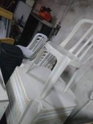 Jogo de mesa de plástico branca