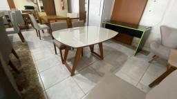 Título do anúncio: Mesa de madeira maciça pronta entrega 4 completa