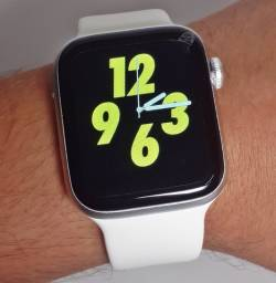 Lindo Smartwatch IWO 8 Lite Branco Tela Infinita Recebe Notificação