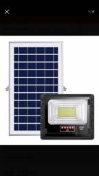 Refletor Solar 40w + Placa solar. Resistência IP67.