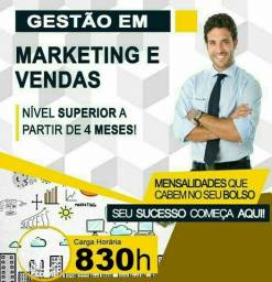 **Gestão em Marketing e Vendas - EAD - Curta  Duração - Sequencial