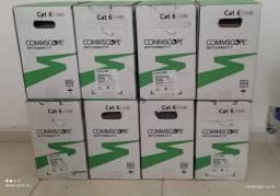 Cabo De Rede Cat6 Commscope 305Mts cs30 branco