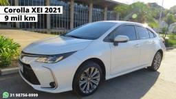 Corolla XEI 2021 apenas 9 mil Km rodados