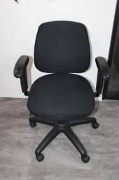 Cadeira de escritório / em Tecido / Plástico Preto 85 cm x  60 cm x  45 cm