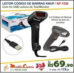 Leitor De Codigo De Barras Knup Usb Leitura Na Tela Kp-1026