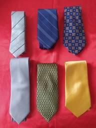 Lote de 6 gravatas importadas (4 novas)