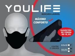 Máscaras de tecido lavável (Caixa com 50 Un.)