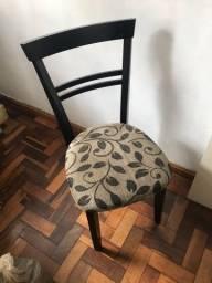 Conjunto 6 cadeiras de madeira