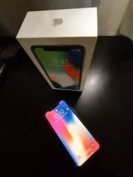 Iphone X 64 gb Branco + Acessórios