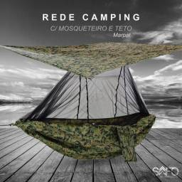REDE CAMPING C/ MOSQUETEIRO E TETO