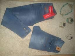 Calças jeans novas. Biotipo e Revanche