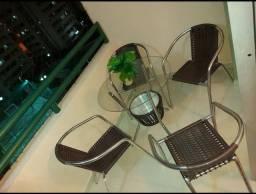 Conjunto de mesa para área externa de fibra (CONSERVADISSIMA)