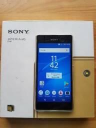Sony M5 dourado dual estado de loja NOVO