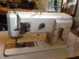 Maquina de costura transporte triplo sunspecial completa usada p/bolsas,sapatos,malas etc