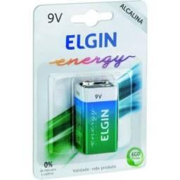 Bateria Alcalina Elgin 9V - Alta Durabilidade Lacrada