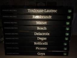 Coleção de livros Grandes Mestres -Toulose, Rembrandt, Manet, Bosch, Delacroix, Picasso
