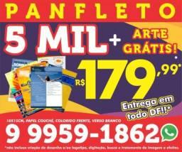 5 mil panfleto 179$ ou 3 mil cartão de visita 99$ Entrega em todo DF!