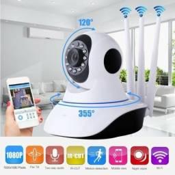 Câmera IP WiFi HD C/ Sensor Noturno (Aceito cartão)