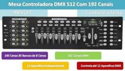 Mesa Controladora Dmx Iluminação 192 Canais
