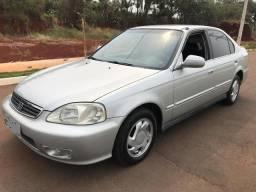 Civic lx automatico completo aceito carro ou moto de menor valor ou financio - 1999