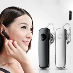 Fone de ouvido sem fio bluetooth para música atende chamadas novo
