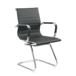Cadeira Interlocutor Eames Office Diretor Preta Nova / Nfe / Garantia