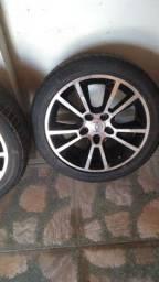 4 aros 17 com pneus