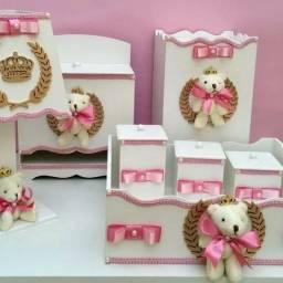 Kit higiene completo 7 pecas tema ursinha princesa( promoção)