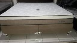 Cama Box + Colchao Ilheus Super King 193x203 A Pronta Entrega