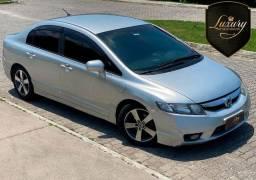 Honda Civic 2009/2009 LXS Flex + GNV Automático Prata