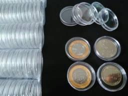 Caixa em Acrílico p/ moedas Colecionáveis.