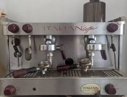 Máquina de Café Expresso 2 Grupos com Moinho