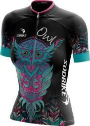 Camisa Ciclismo Sódbike Coruja Preta