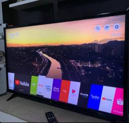 Tv smart 43 Full HD LG tem pezinho controle original,pego tv com volta pra mim