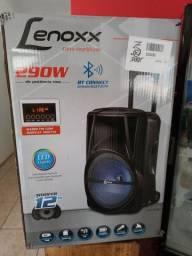 Caixa de Som Lenoxx CA340 Bluetooth, Pendrive, Cartão de Memória, Rádio e Karaokê!