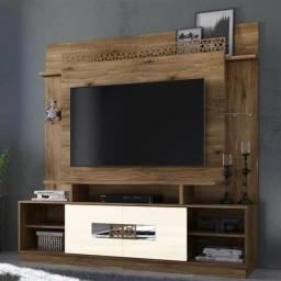 """Home Orion TV até 60 """" Portas Deslizantes c Espelhos e 8 Rodízios- Até 12x Sem Juros"""