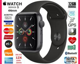 Apple Watch Série 5 44mm Cerâmica, A prova D'água, GPS, Novíss, Caixa, NF, Gar Apple, Trc