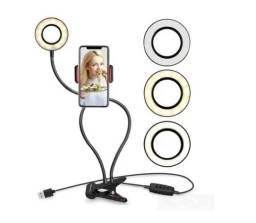 Anel Luz Iluminador Led Ring Light Suporte Celular P/ Vídeo