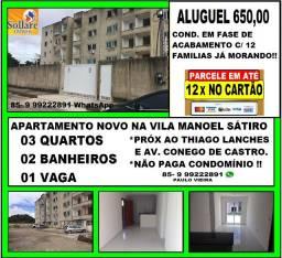 Alugo Apartamento na Vila Manoel Sátiro Com 03 Quartos e Próx ao Thiago Lanhes