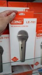 Microfone Com Fio De Mão Lelong Le701