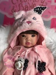 Bebê Reborn Coelhinha rosa + kit Pronta entrega em Maceió