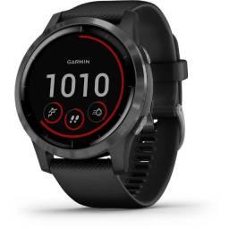 Relógio Smartwatch Garmin Vivoactive 4 - Prata/Preto