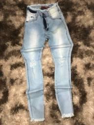 Calça jeans skinny e flare!