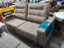 Sofá Retrátil e Reclinável 3 Lugares com Pillow