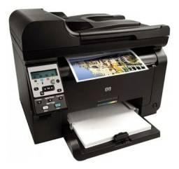 Impressora Multifuncional Hp Laserjet Pro 100 Color m175nw 4 toners novos