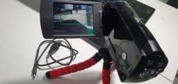 Camera com tripé funcionando