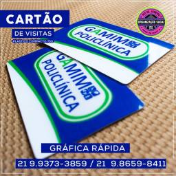 Cartão de Visitas em PVC RÍGIDO