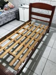 Camas madeira maciça longarina 2 lugares rack