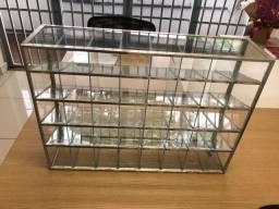 Expositor de vidro temperado borda de aluminio Usado