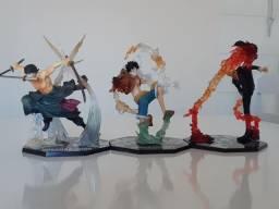 Action Figures - Luffy, Zoro e Sanji
